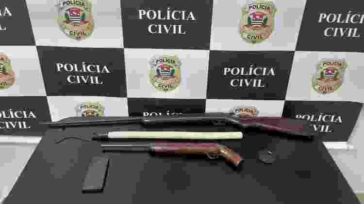22.mar.2021 - Itens apreendidos com suspeito de ameaçar delegada  - Divulgação - Divulgação