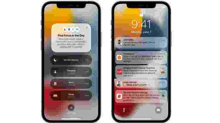 Notificações iOS15 Apple - Divulgação/ Apple - Divulgação/ Apple
