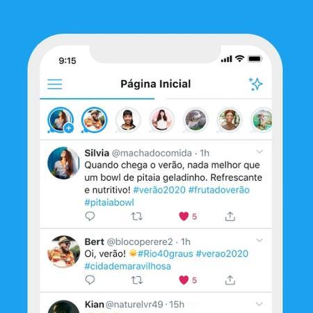 """Twitter vai desativar recurso """"Fleets"""" na terça-feira por baixa adesão dos usuários - Divulgação/Twitter"""