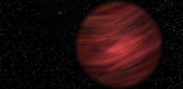 Concepção artística do planeta 2MASS J2126-8140 que orbita ao redor da TYC 9486-927-1