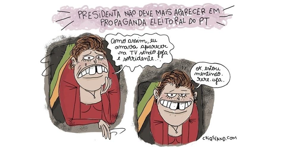 """28.jan.2016 - Para evitar que mais panelas fiquem amassadas durante os """"panelaços"""", Dilma Rousseff ficará fora das propagandas do PT na TV. Será que ela questiona a decisão?"""
