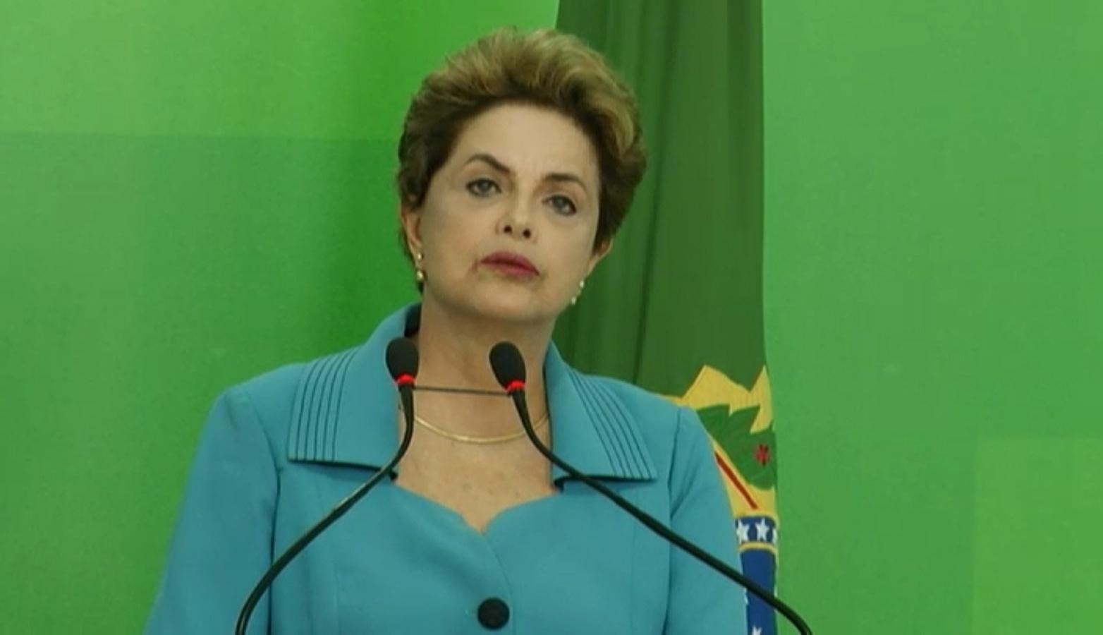 18.abr.2016 - A presidente Dilma Rousseff faz pronunciamento sobre aprovação do processo de impeachment na Câmara dos Deputados