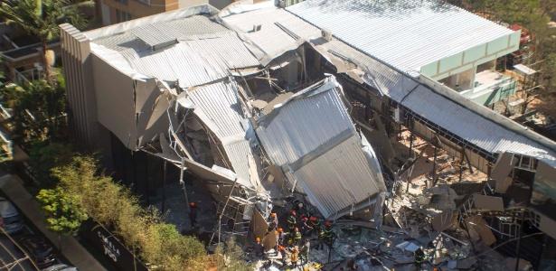 Estande desabou no Itaim Bibi, bairro da zona oeste de São Paulo (SP)