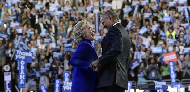 """Obama disse que a candidata democrata à Casa Branca é """"respeitada no mundo todo"""""""