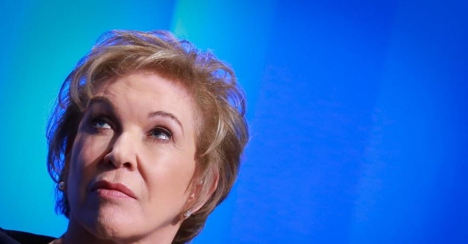 02.set.2016 - A senadora e candidata à Prefeitura de São Paulo, Marta Suplicy (PMDB), durante debate promovido pela RedeTV!