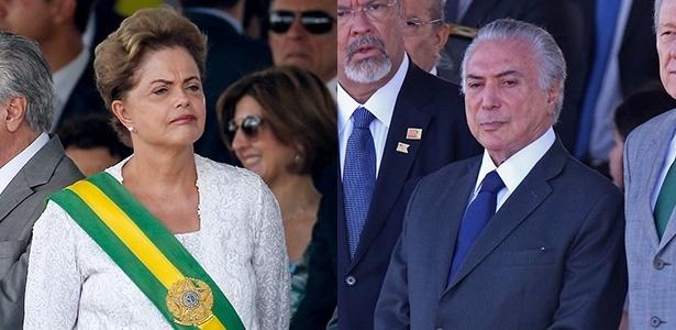 Sai Dilma, entra Temer: o que mudou no desfile do 7 de Setembro - Pedro Ladeira/Folhapress e André Dusek/Estadão Conteúdo