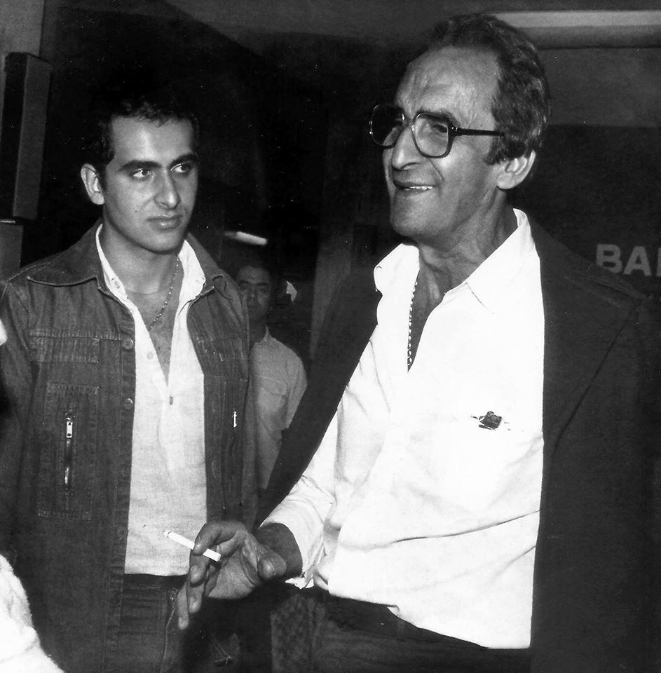Alexandre Kalil (? esquerda), na juventude, ao lado do pai Elias, que também foi presidente do Atlético-MG