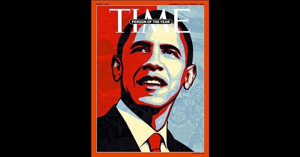 """Barack Obama (2008 e 2012) - Nomear o presidente eleito dos Estados Unidos como personalidade do ano se tornou uma tradição da """"Time"""", e isso aconteceu 50% das vezes nos anos de eleição para a Casa Branca. Primeiro presidente negro da história do país, Obama ganhou a capa nos dois anos em que se elegeu, em 2008 e 2012"""