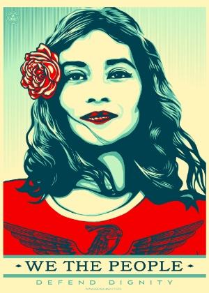 """""""Nós, o povo, defendemos a dignidade"""""""