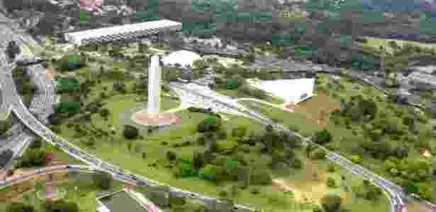 O obelisco no Parque Ibirapuera é uma das homenagens à Revolução de 1932 ainda presentes em São Paulo - Divulgação/Prefeitura de São Paulo - Divulgação/Prefeitura de São Paulo