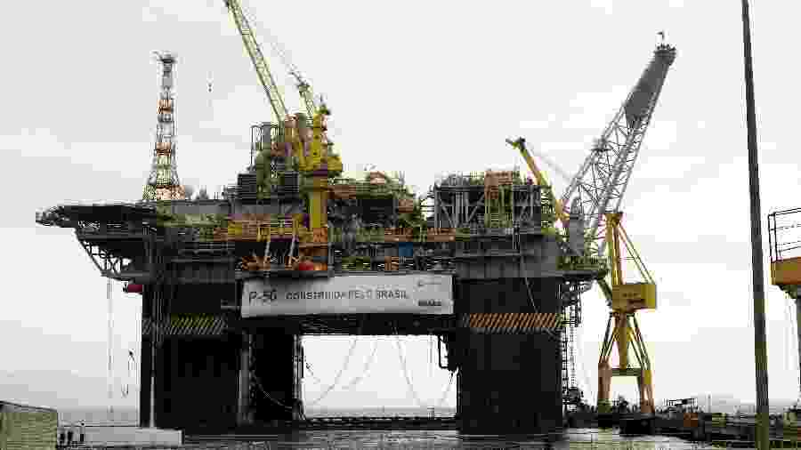 Plataforma da Petrobras em construção em Angra dos Reis, em 2011 - Stéferson Faria/Agência Petrobras