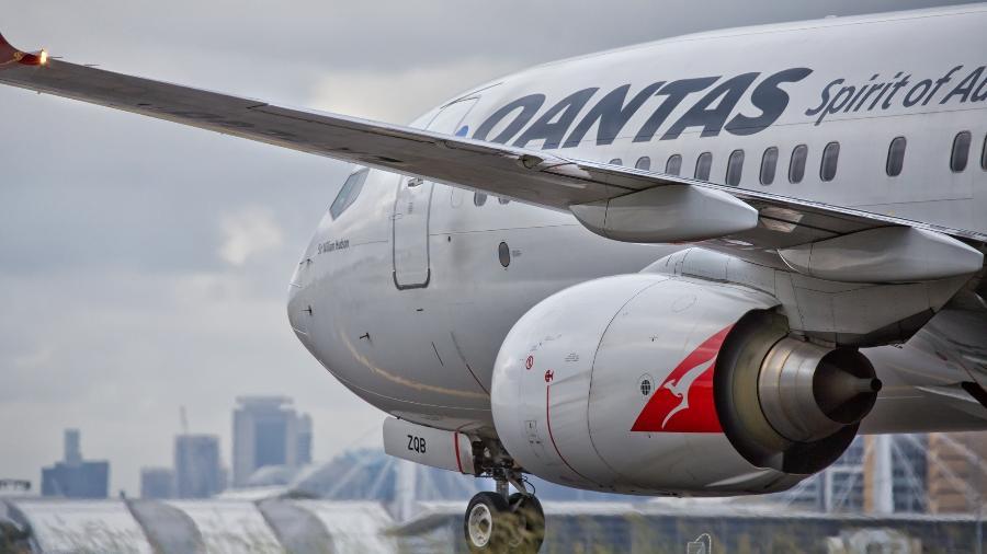 Avião da companhia aérea australiana Qantas - Getty Images
