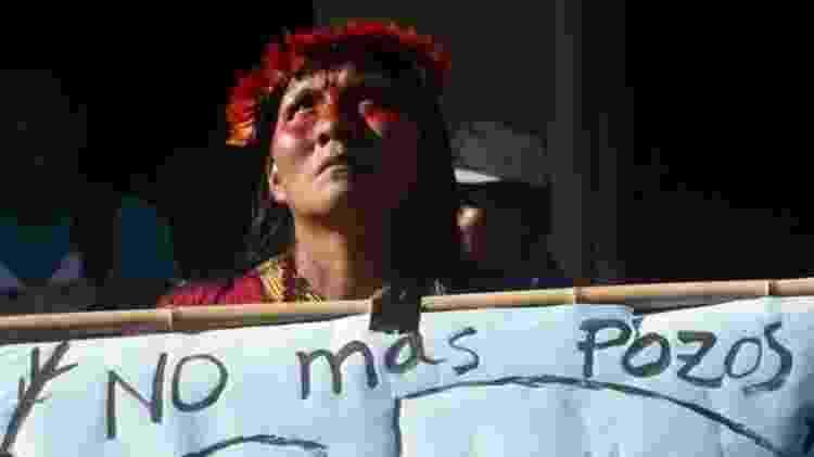 Extração de petróleo na Amazônia equatoriana foi alvo de protestos de povos indígenas - AFP/BBC