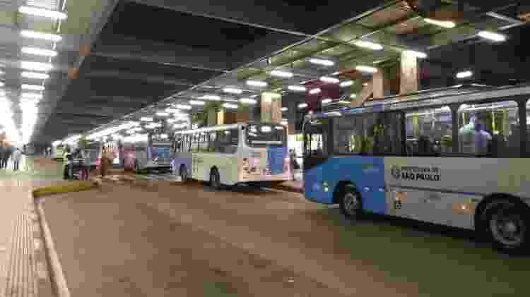 Ônibus operam normalmente no terminal Grajaú, em São Paulo - Talita Marchao/UOL - Talita Marchao/UOL