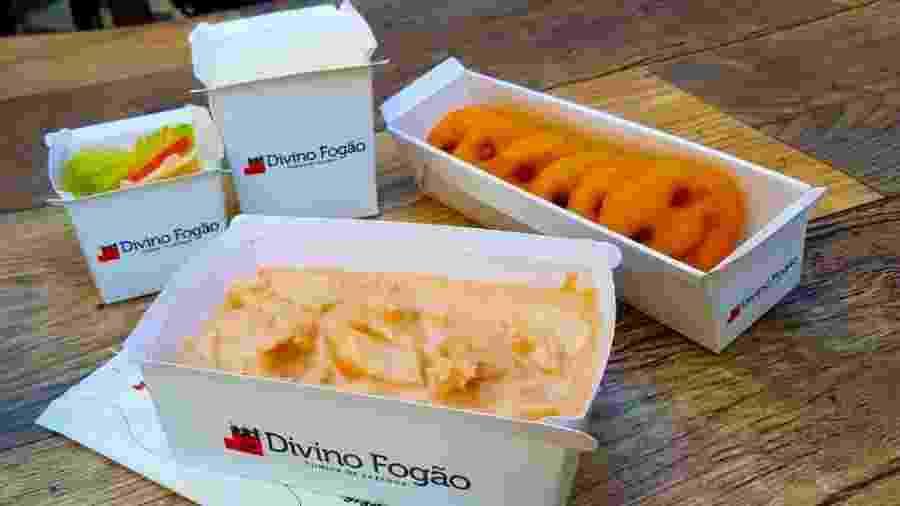 Divino Fogão lança serviço delivery; os pratos são entregues em embalagens seladas - Divino Fogão/Divulgação