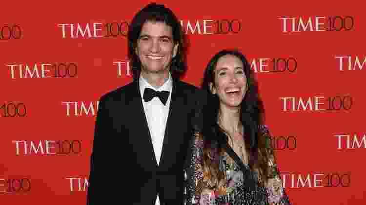 Adam e Rebekah Neumann: casal decidiu reduzir participação na operação do WeWork após pressão de investidores - Getty Images - Getty Images