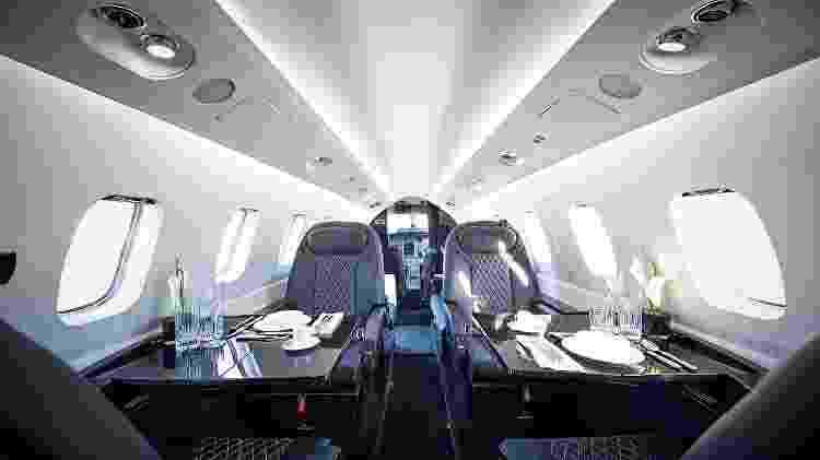 Avião italiano tem cabine espaçosa e custa US$ 7,7 milhões - Divulgação  - aviao italiano tem cabine espacosa e custa us 77 milhoes 1574381213485 v2 750x421 - Avião a hélice é simples por fora, mas tem luxo de jato por até R$ 32 mi