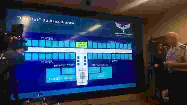 Mapa do hotel que receberá os repatriados em Anápolis; local terá sala de lazer e videogame - Hanrrikson de Andrade/UOL - Hanrrikson de Andrade/UOL