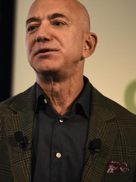 19.set.2019 - O fundador e CEO da Amazon Jeff Bezos, homem mais rico do mundo - Eric Baradat/AFP