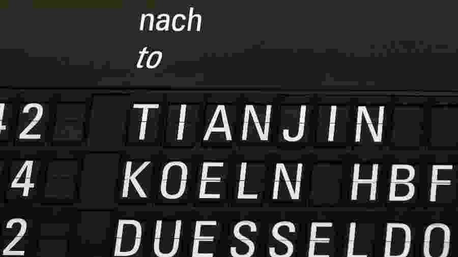 29.mai.2020 - Primeiro voo da Europa para a China após fim do confinamento saiu de Frankfurt, na Alemanha - YANN SCHREIBER / AFP
