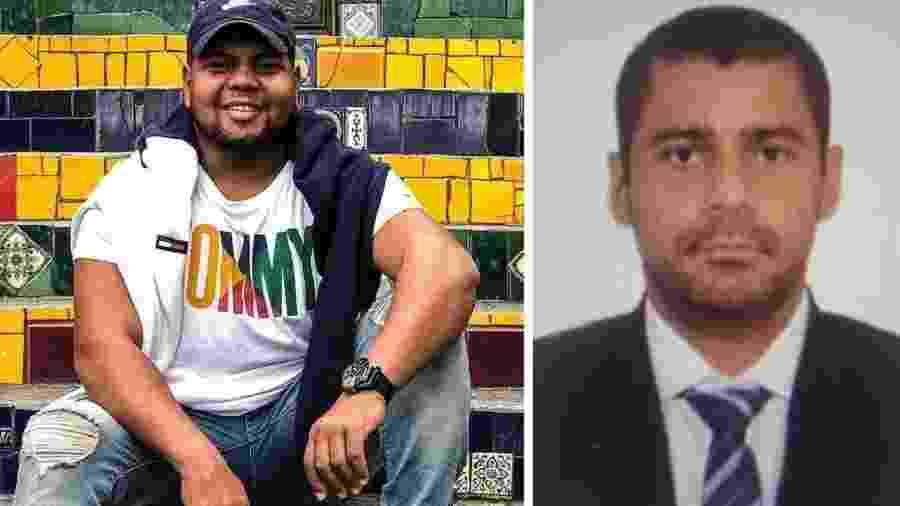 14.jan.2021 - O cabo da marinha Israel Aarão Marcelo da Silva Correa, 27, e o policial civil Rodrigo Costa, 37 - Montagem/UOL