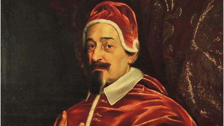 O papa Alexandre 7º decretou medidas sanitárias que, para pesquisadores, contribuíram para que a letalidade de uma peste no século 17 fosse muito menor - Domínio Público