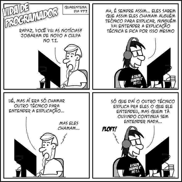 Tirinha - André Noel - Vida de programador - 10 de julho de 2021 - André Noel/ Vida de Programador - André Noel/ Vida de Programador