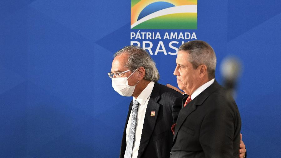 29 abri. 2020 - Ministro da Economia, Paulo Guedes, e da Defesa, Walter Braga Netto - Edu Andrade/Ascom/ME