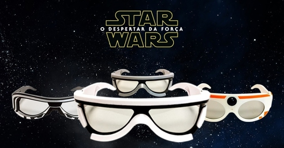 A rede de cinemas Cinemark está vendendo, em suas 77 unidades, óculos 3D inspirados nos personagens de Star Wars. Os óculos custam R$ 25 (se comprado junto com um ingresso do filme em uma sala XD) ou R$ 35 (comprado individualmente)