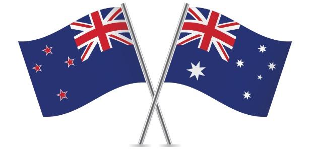 Você sabe dizer qual das duas bandeiras é a da Nova Zelândia? (resposta no fim do texto) - Getty Images