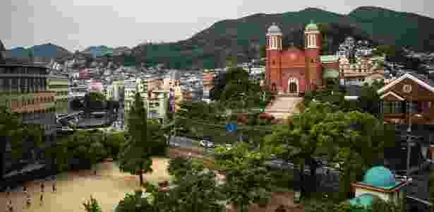 22.mai.2016 - A catedral reconstruída de Urakami, em Nagasaki - Adam Dean/The New York Times - Adam Dean/The New York Times