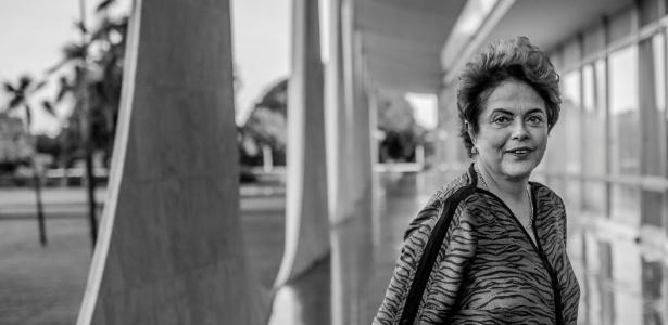 A presidente afastada, Dilma Rousseff, durante entrevista no Alvorada