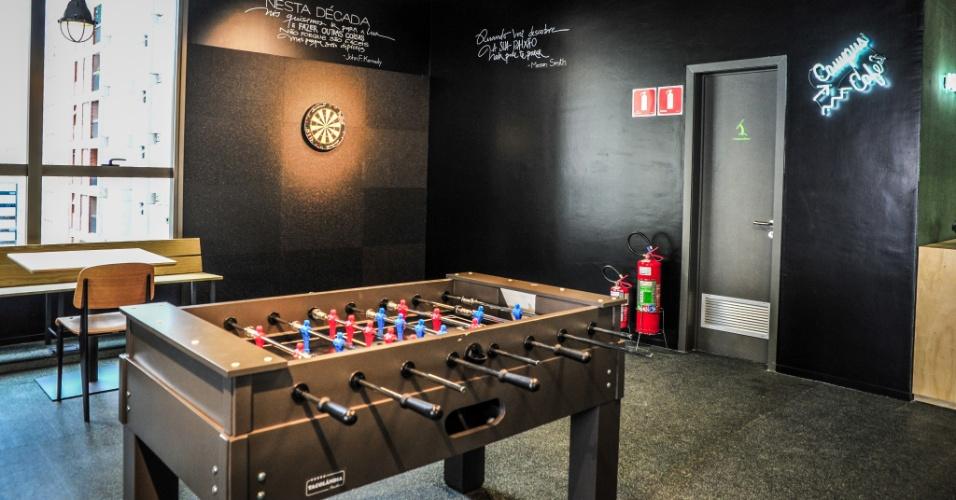 A sala de jogos do Campus São Paulo do Google, segundo o diretor André Barrence, é um local de descontração para os empreendedores