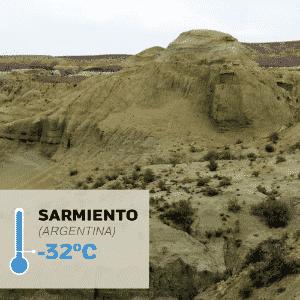 1º.jul.2016 - SARMIENTO (ARGENTINA), -32°C: Foi na Patagônia argentina que foi registrada a menor temperatura da América Latina. Em 1º de junho de 1907, os termômetros marcaram -32,8°C na cidade de Sarmiento, na província de Chubut. O clima é frio e seco. As temperaturas costumam ficar próximas a 0°C durante o inverno - Maxtdf/Flickr/Creative Commons