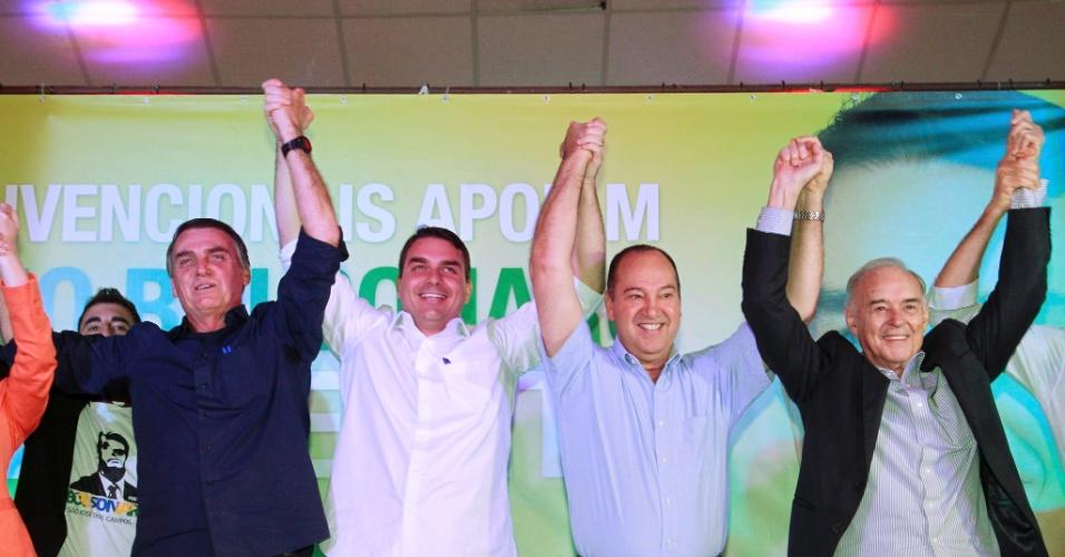 23.jul.2016 -  Lançamento da Candidatura para Prefeitura do Rio de Flavio Bolsonaro (PSC) em Bangu RJ