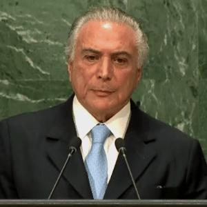 Presidente Michel Temer grava entrevista para programa de Mariana Godoy - Reprodução/ United Nations Webcast
