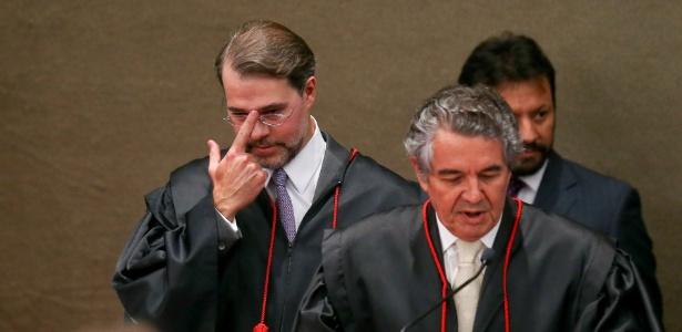 Dias Toffoli (e) e Marco Aurelio Mello rebateram versões sobre processo que pode tirar Renan Calheiros da presidência do Senado