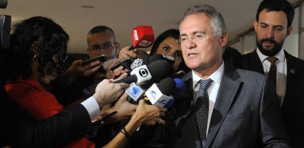 """Renan diz que denúncia contra ele é """"vingança"""" e que PGR faz """"política"""" - Jane de Araújo/Agência Senado"""