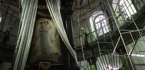 Imagem de Clotilde de Vaux, por quem Auguste Comte era apaixonado, na Igreja Positivista do Brasil