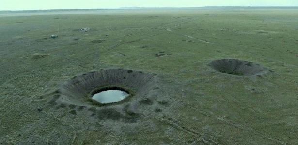 Vista aérea do 'Polígono', em que mais de 400 bombas nucleares foram detonadas