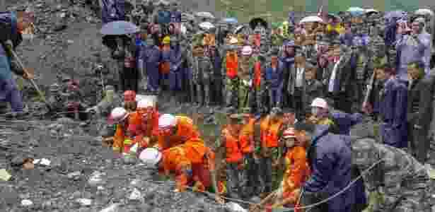 24.jun.2017 - Deslizamento em Sichuan neste sábado (24) deixou desaparecidos - Reuters - Reuters