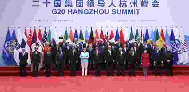 4.set.2016 - Foto oficial do G20 em Hangzhou, na China - Pang Xinglei - Pang Xinglei