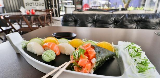 Restaurante japonês Notubo prato Ligeirinho