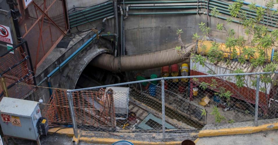 22.mar.2018 - A estação Chuao é outra da Linha 5 do metrô de Caracas, na Venezuela, que a Odebrecht ainda não entregou: obra está parada