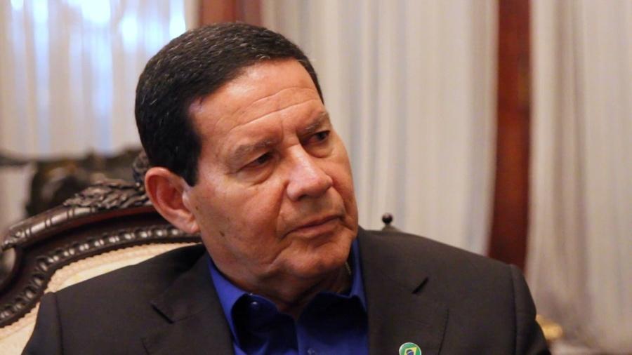 O vice-presidente eleito, Antônio Hamilton Mourão