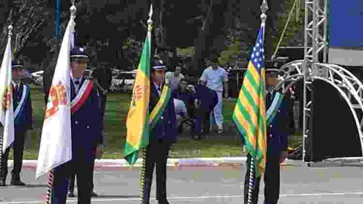 Militar desmaia durante evento com presidente Jair Bolsonaro, em Brasília - 04.jan.2018 - Hanriksson de Andrade/UOL