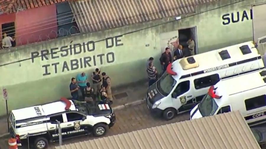 Prisão em Itabirito, na Grande BH, é esvaziada após aumento de risco em barragem - Reprodução/Record TV Minas