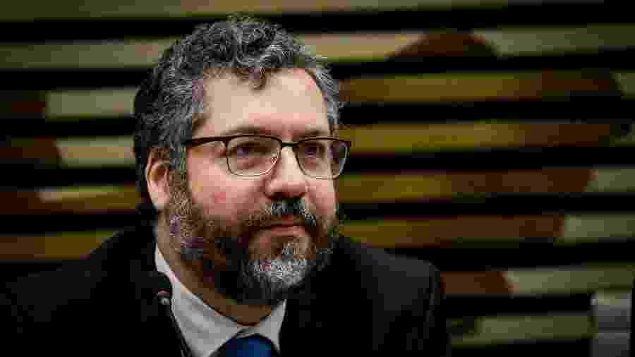 O ministro das Relações Exteriores, Ernesto Araújo, participou de evento na Fiesp, em São Paulo - Aloisio Mauricio/Fotoarena/Estadão Conteúdo