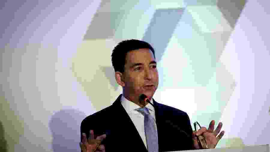 Glenn Greenwald, um dos fundadores do Intercept, no 25º Seminário Internacional de Ciências Criminais - Aloisio Mauricio/Estadão Conteúdo