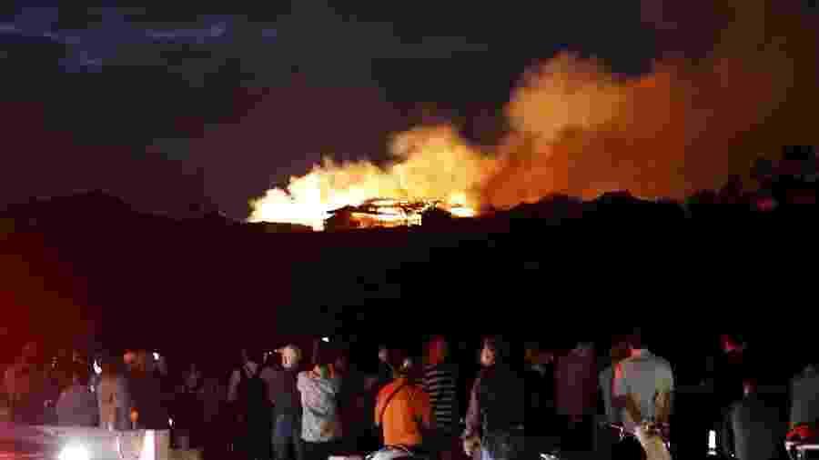 Castelo de Shuri, no Japão, é atingido por incêndio - Kyodo/via REUTERS